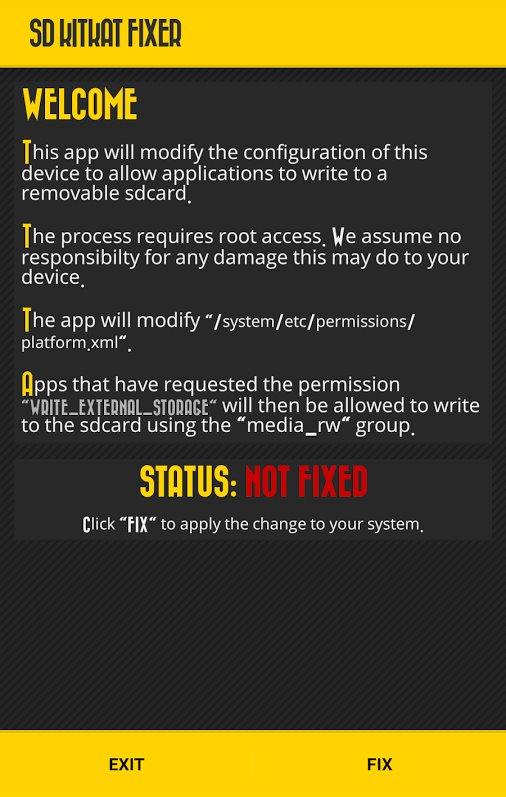 Galaxy Note 4 External SD card Write Fix