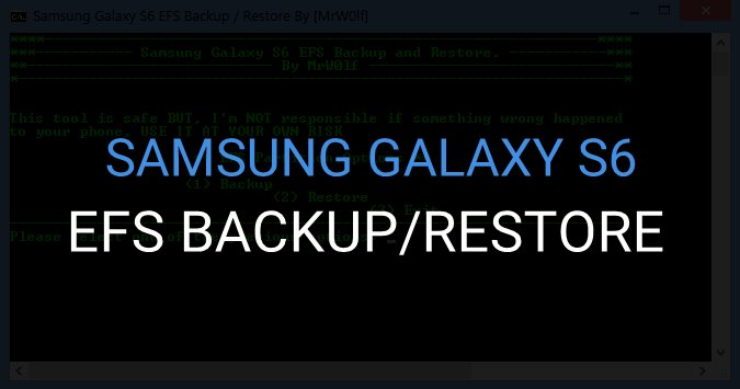 Galaxy S6 EFS Backup and Restore