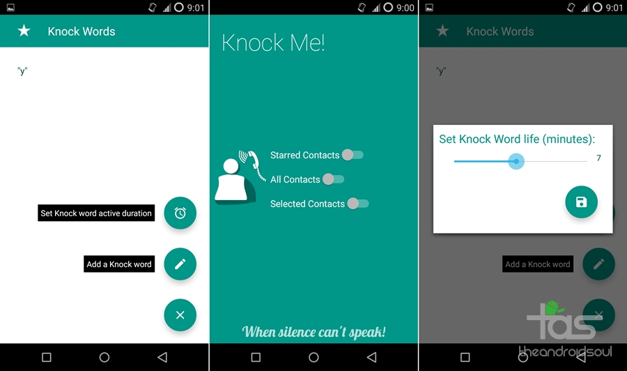 Knock Me android app