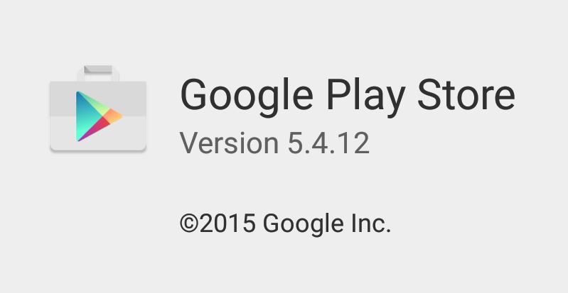 Play Store 5.4.12