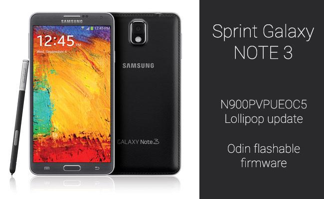 Sprint-Note-3-Lollipop-update-odin-firmware