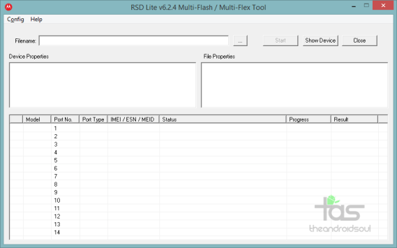 RSDLite Firmware Flash Tool