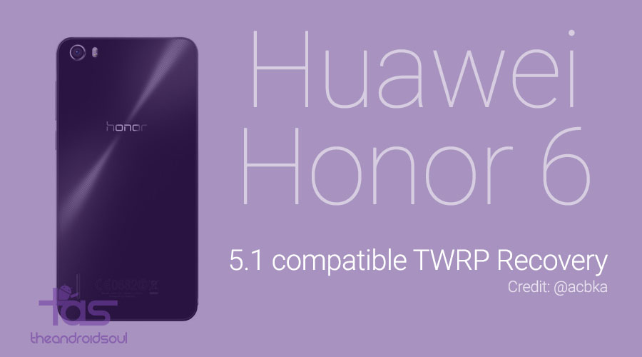 honor 6 twrp recovery