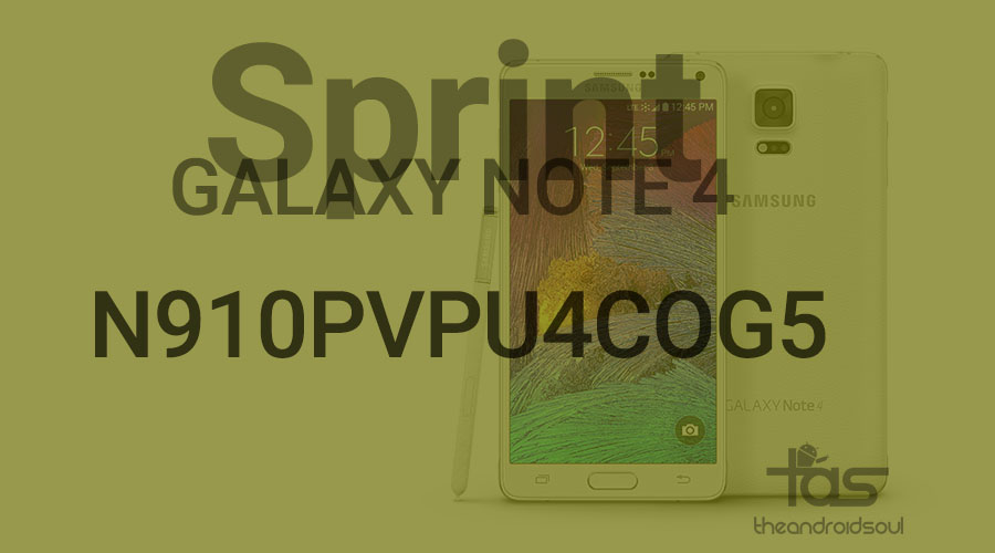 sprint note 4 og5 update