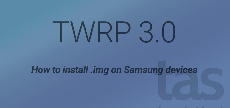 twrp 3.0 img installation