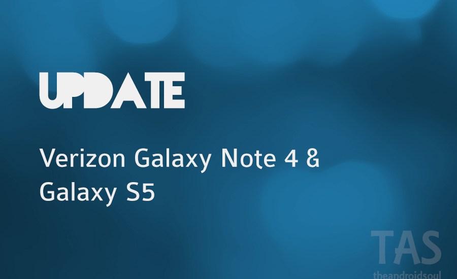 verizon note 4 s5 update