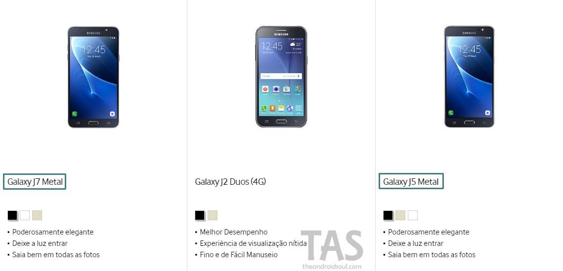 Galaxy J5 J7 metal name