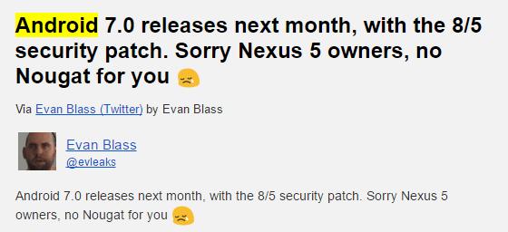 Nougat release date
