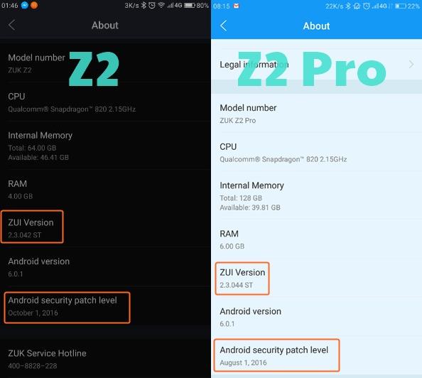 zuk-z2-z2-pro-update