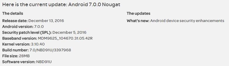 AT&T Nexus 6 Update