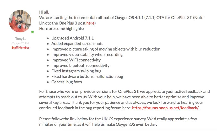 OnePlus OxygenOS 4.1.1
