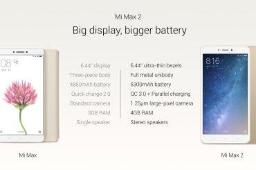 Xiaomi mi max 2 specs