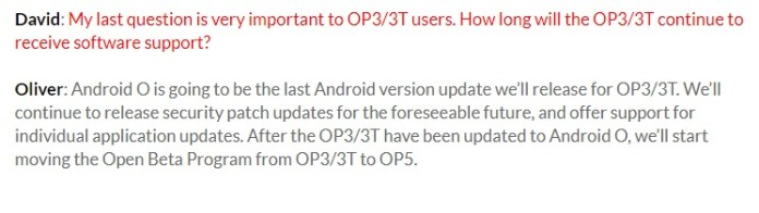 OnePlus 3/3T support