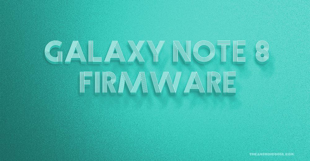 Galaxy Note 8 firmware