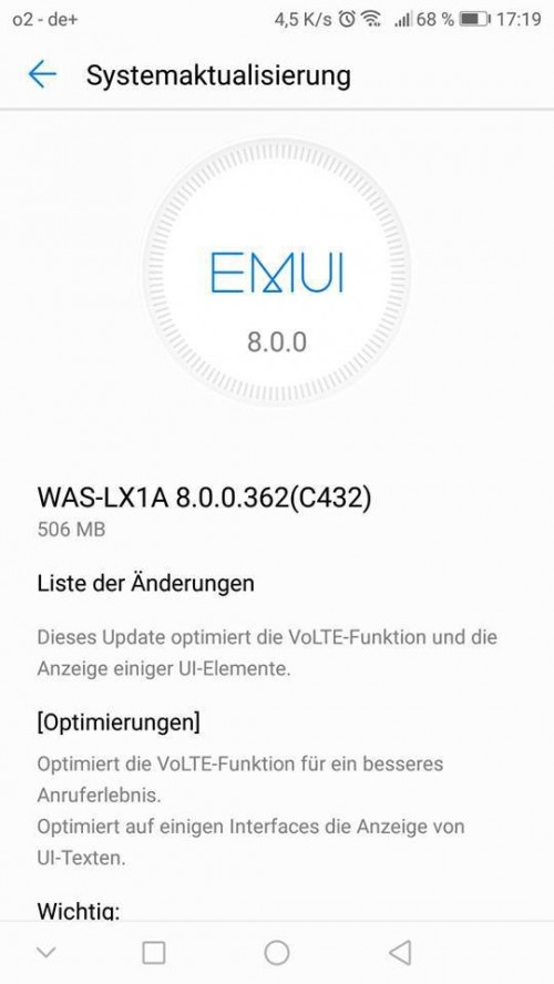 Android Oreo Update Begins Rolling Out To Huawei P10 Lite