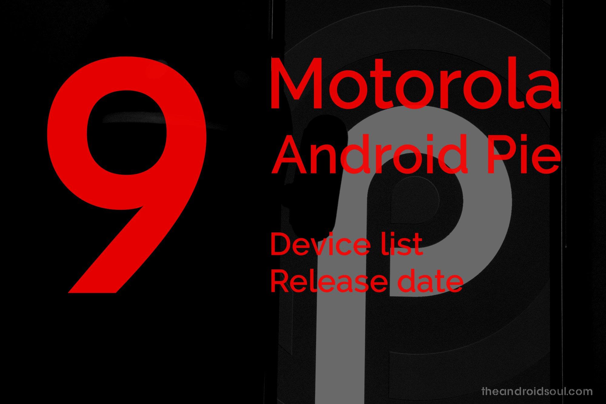 Motorola Android 9 Pie