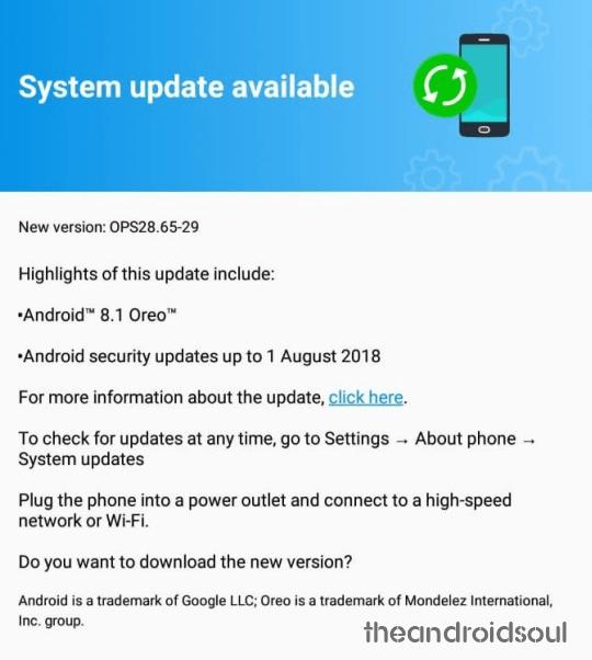Moto G5S Plus Android 8.1 Oreo release