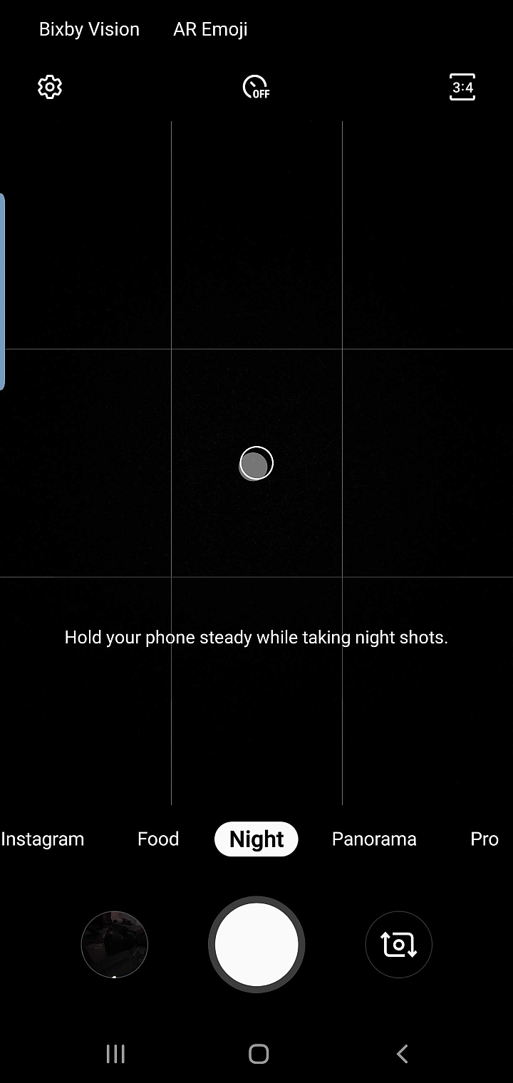 Samsung Galaxy S10 Camera Night Mode