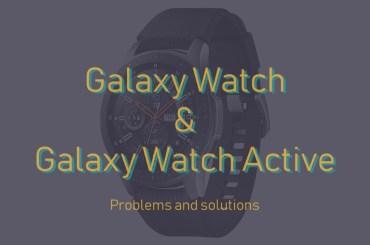 Galaxy watch problems