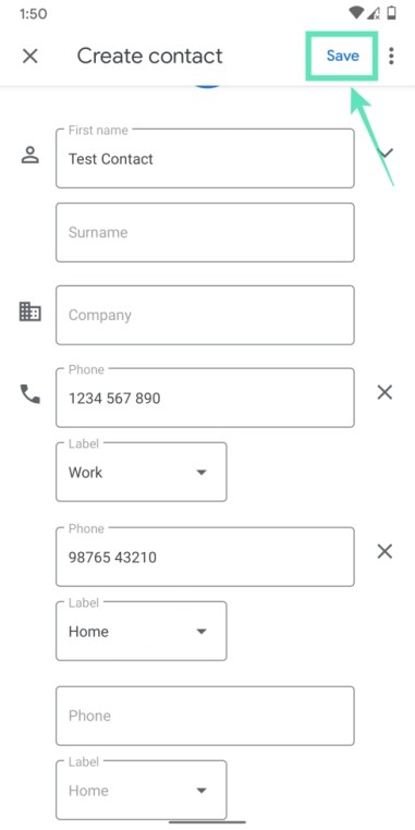 Add contacts on Googlr-14-a