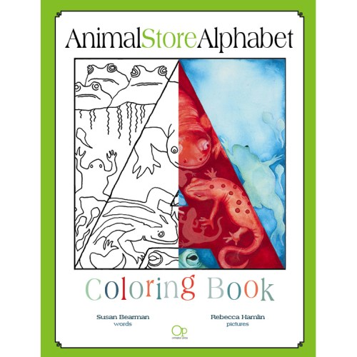 Animal Store Alphabet Coloring Book