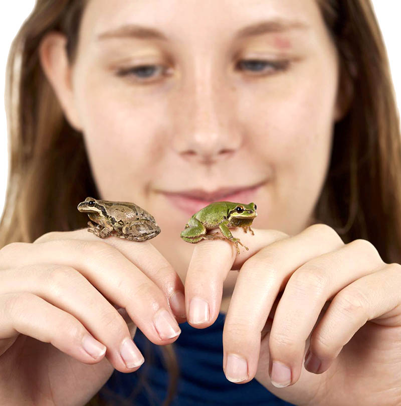 Woman with Frogs