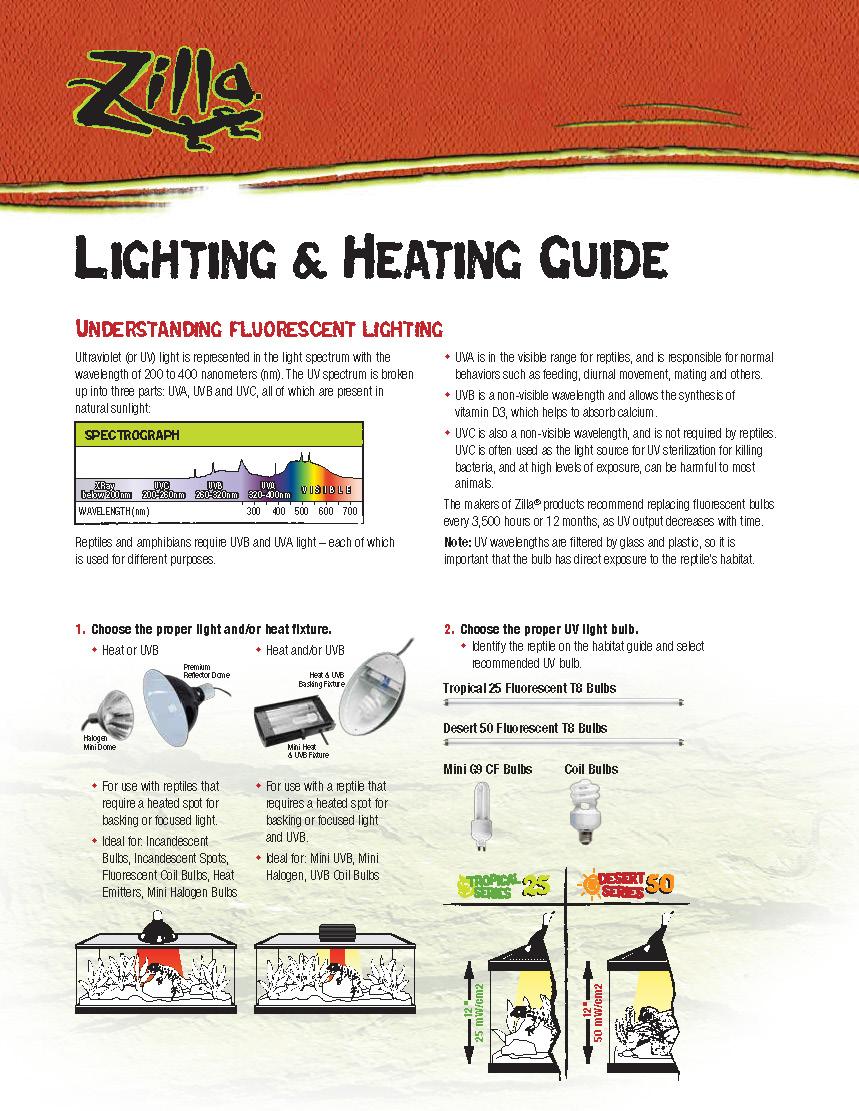 Heating reptile tanks ZillaLightingHeatingGuide_Page_1