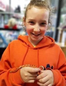 Sabine and her Corn Snake