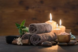 towels and candles