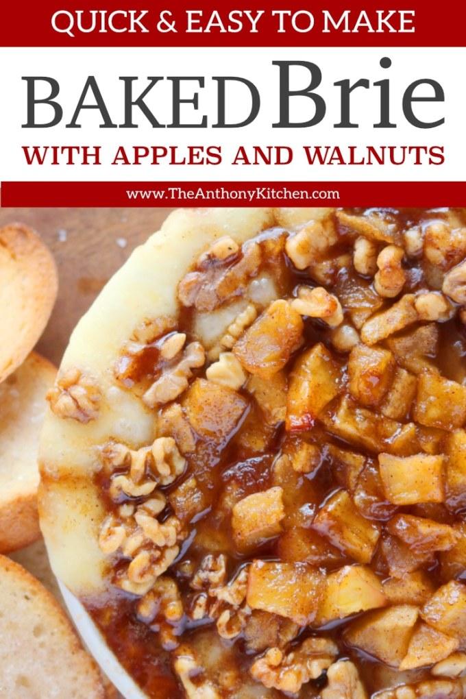Baked Brie with Apples and Walnuts