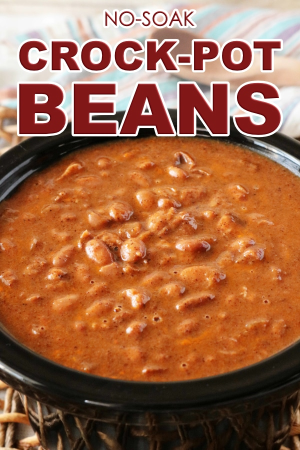 Crock-Pot Beans (Pinto Beans Cooked in a Slow Cooker)