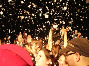 Confetti at MUTEMATH