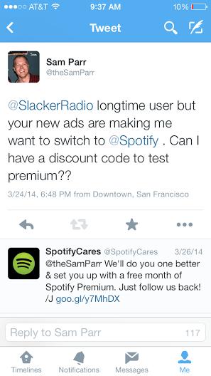 slacker radio vs. spotify
