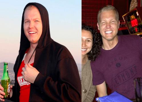 These photos were taken 10 months apart.