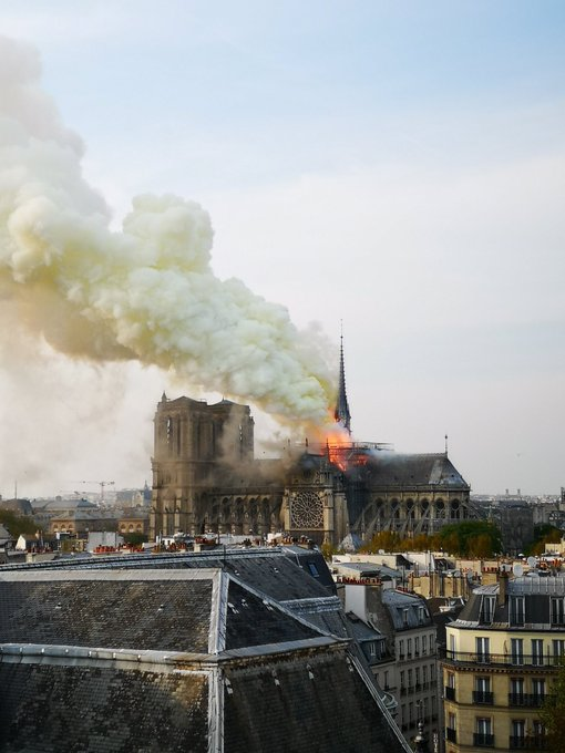 Latest International News : 850-year-old Notre-Dame Cathedral  in Paris damaged in fire