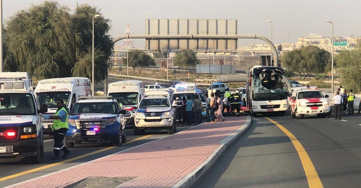 Oman Latest News : Mwasalat bus crash: Omani driver was travelling at more than twice the speed limit, says Dubai Police
