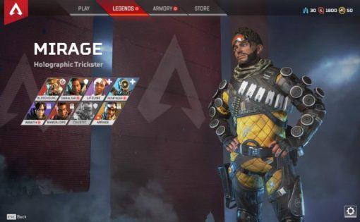 Apex Legends - Mirage: Trucos para ser el mejor Pícaro Holográfico 1