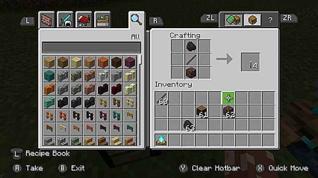 The recipe for crafting a soul torch in Minecraft.