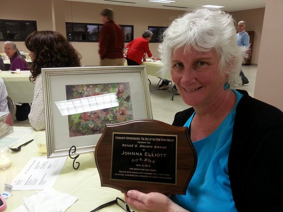 Johnna Elliott, 2014 recipient of the Renee Brown Award