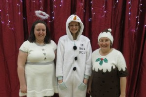 Our three teachers dressed up for our Christmas Concert!