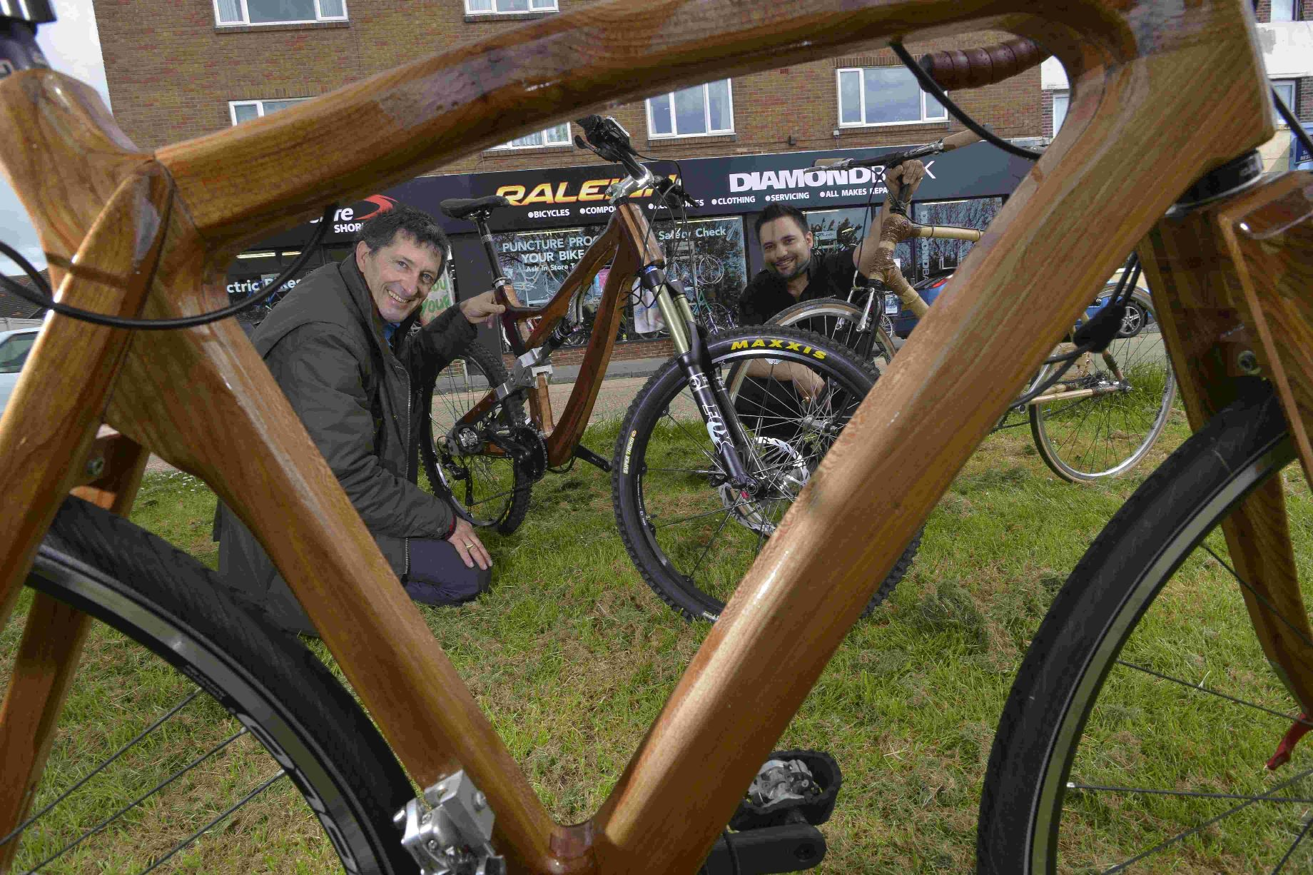 The Argus: Peter Charnaud, left, and Richard Dowdeswell with the special bikes