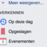 Facebook; berichten bewaren