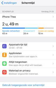 Schermtijd Apple | Thearie