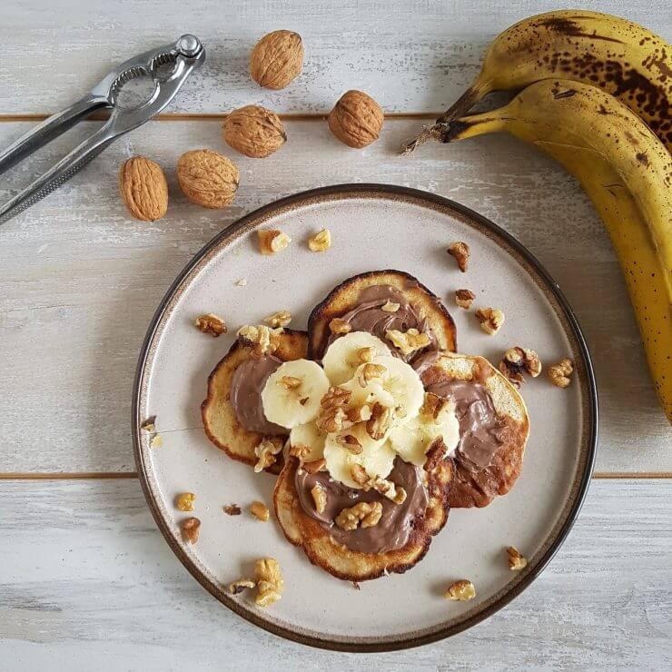 Pannenkoeken met Nutella, banaan en walnoten van Culi Sandra