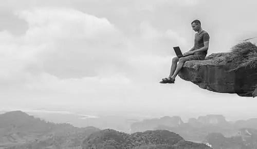 On a cliff edge