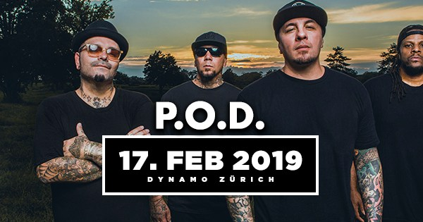 P.O.D. kommen nach Zürich