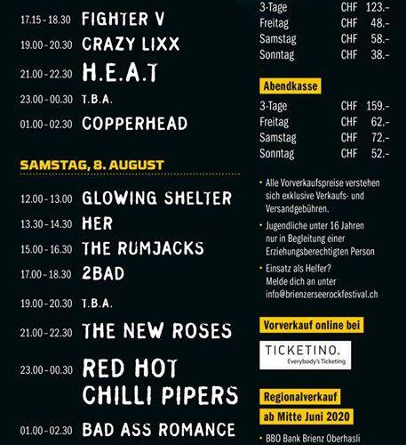 Brienzersee Rockfestival 2020