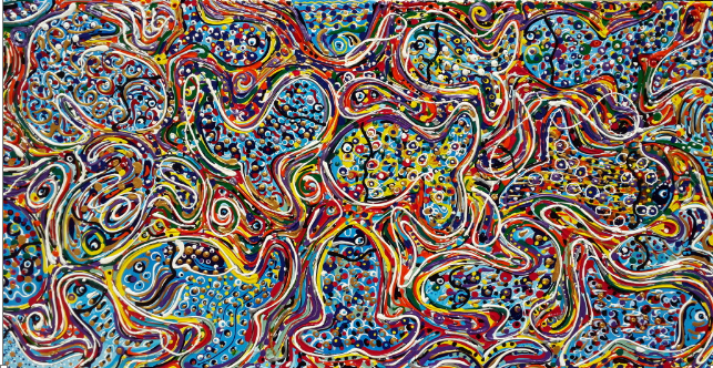 My painting, inspired by Jackson Pollock