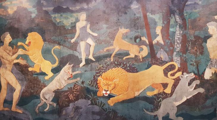 Heaven on Earth ציור ענק 274/479 CM שנולד מזכרונות הקרבות שלקח בהם חלק במלחמת העולם הראשונה.