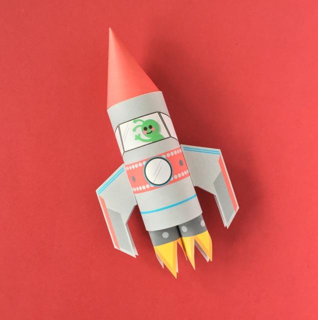 Space Rocket Toilet Tube Craft Printable